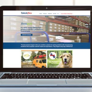 Bihler Website on laptop