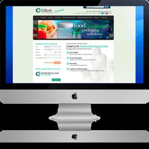 O.Berk website on Desktop Computer
