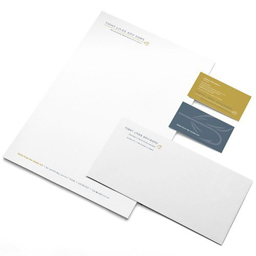 Tight Lines Letterhead and Business Cards