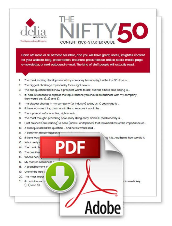 Delia Associates Content Kick-Starter Guide