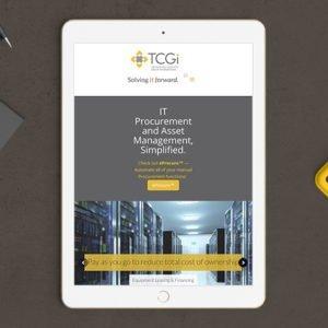 TCGi website on ipad