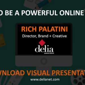 How to be a powerful online brand slide
