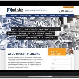 Minalex website on Laptop