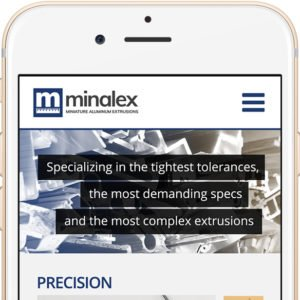 Minalex website on Phone