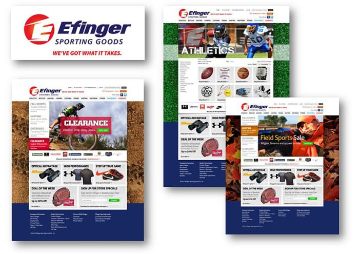 Efinger Sports Website - Delia Associates