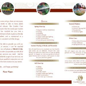 Garden Care Brochure