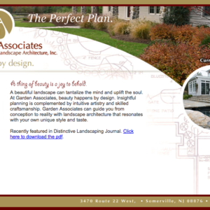 Delia Associates Web Development for Garden Associates