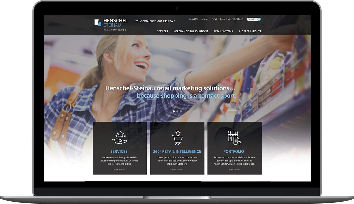 Delia Associates Web Design for Henschel-Steinau