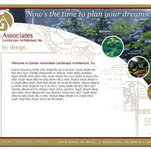 Garden Associates website design by Delia Associates