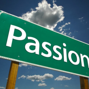 passion road sign