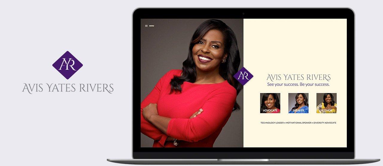 Avis Yates website displayed on laptop