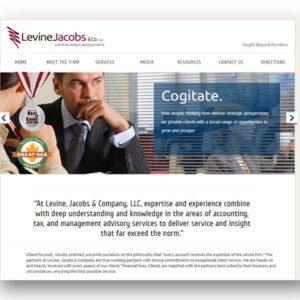 Levine Jacobs Web design by Delia Associates