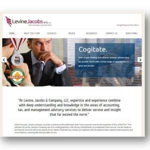 Levine Jacobs Website Design by Delia Associates