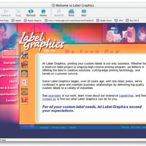 Label Graphics Website
