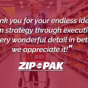 ZipPak Testimonial