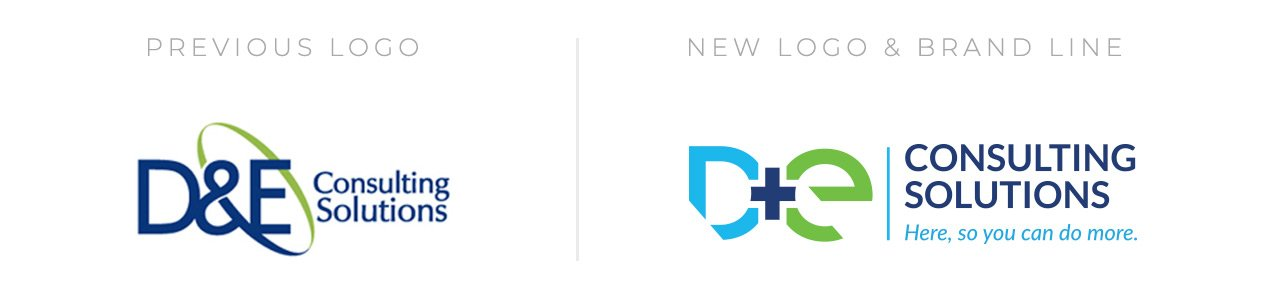 D&E Logo Before & After