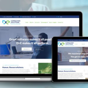 D&E Website on Computers and Devices