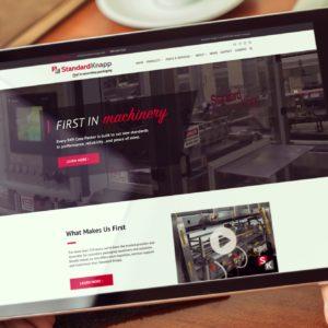 Standard Knapp Website on iPad