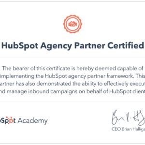 HubSpot Agency Partner Certification