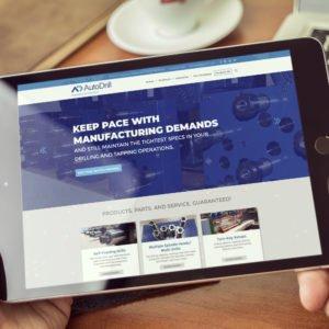 AutoDrill Website on iPad