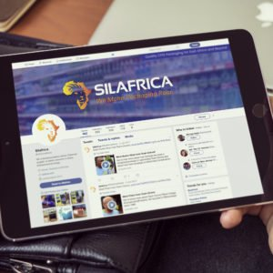 Silafrica website on small iPad