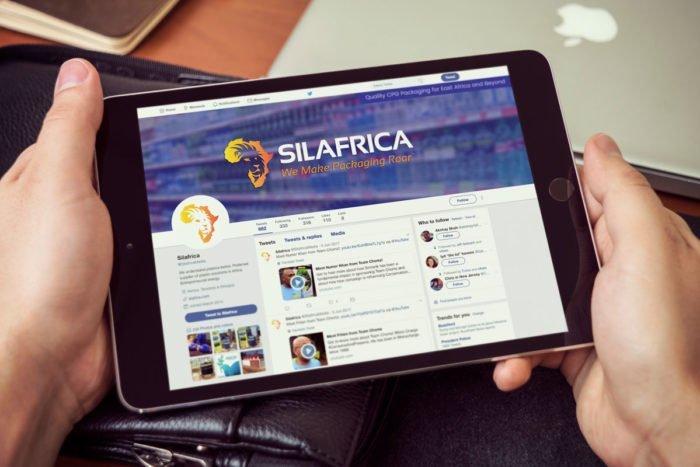 Silafrica Website on iPad