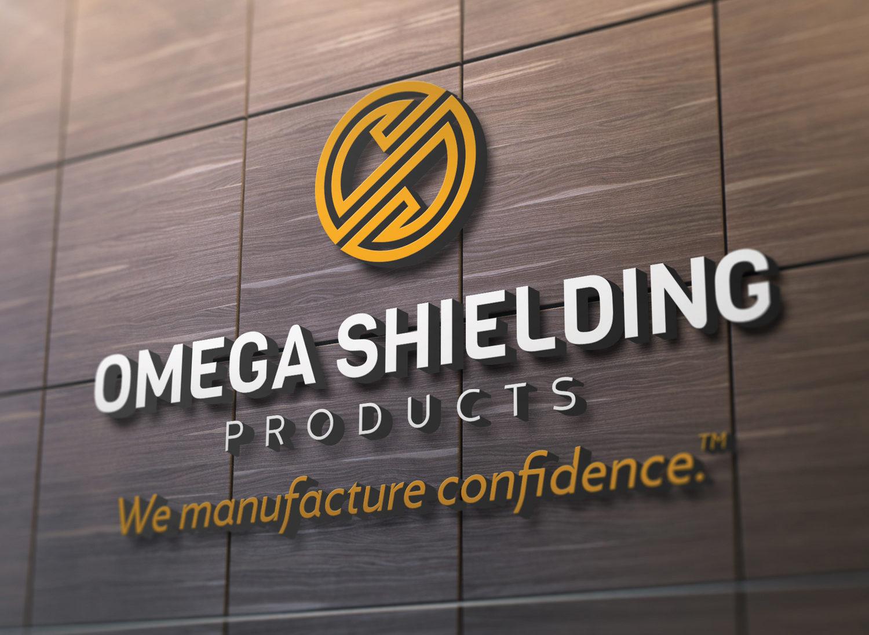 Omega Shielding Logo on Wall