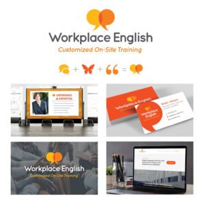 Workplace English Logo and Marketing Items