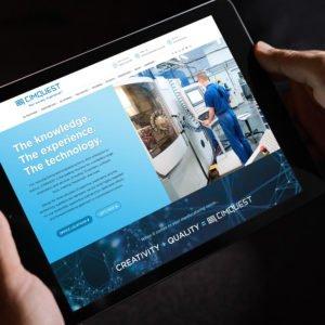 CimQuest Homepage on iPad Screen