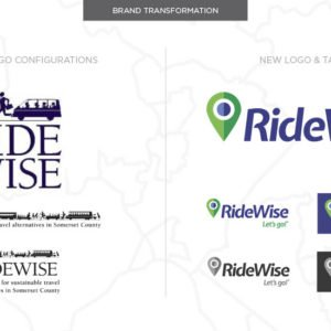 RideWise Logos before and after