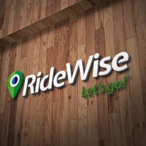 RideWise Logo on Wall