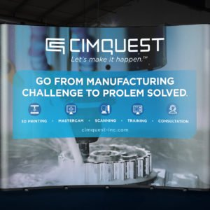 CimQuest website on tradeshow banner
