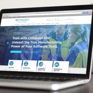 CimQuest website on laptop screen