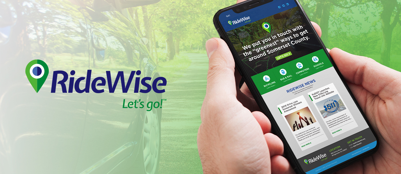 RideWise website on phone header image