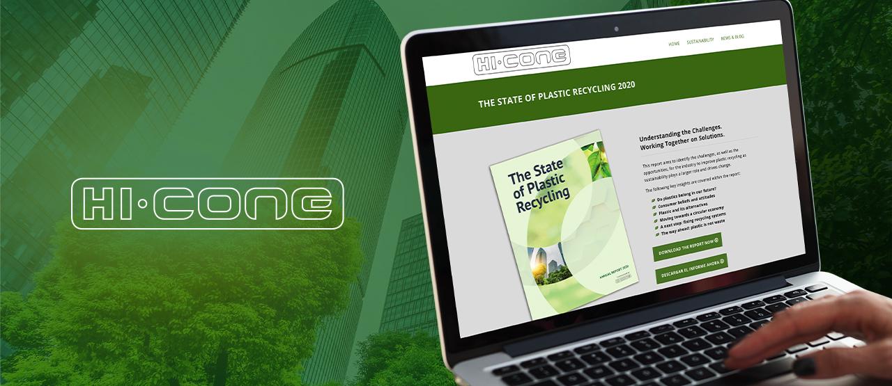 Hi-Cone Website on Laptop Banner Image