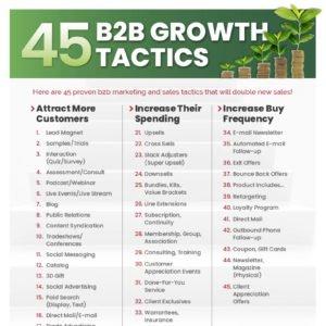 45 B2B Growth Tactics Image
